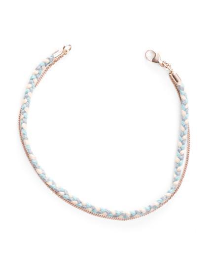 tinchens Flechtarmband Knit Rose
