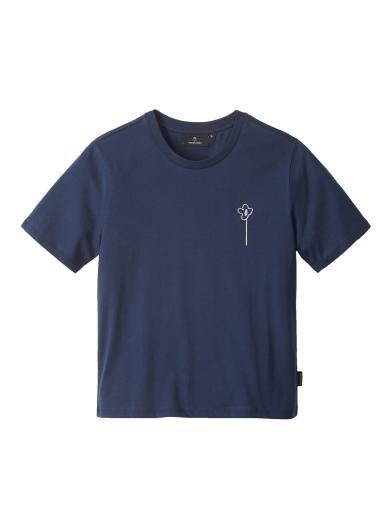 recolution Classic T-Shirt FLOWER Navy