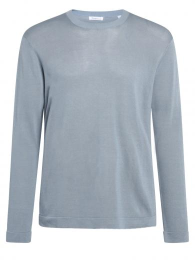 Knowledge Cotton Apparel Forrest o-neck basic Tencel Asley Blue