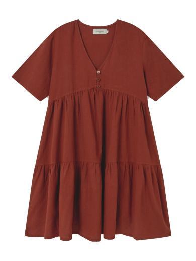 Thinking MU Hemp Fresia Dress Teja