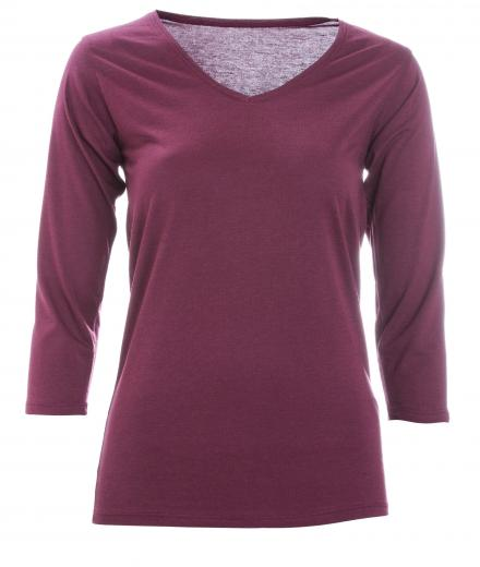 FRIEDA SAND Kahlo V-Neck wine red | S