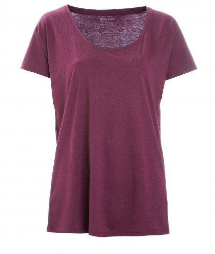 FRIEDA SAND Rosa Loose T-Shirt wine red | L