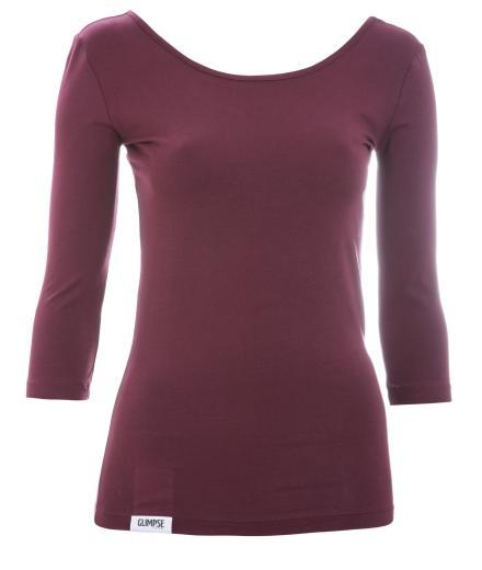 Glimpse Clothing Longsleeve Long Monsoon Dark Red