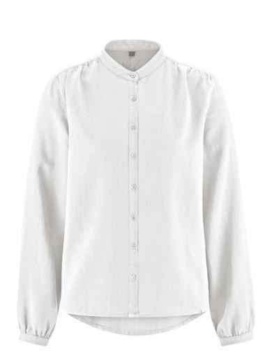 HempAge Stehkragenbluse White