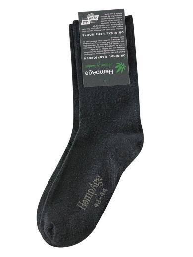 HempAge Klassische Socke black