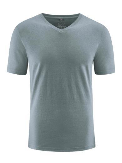 HempAge V-neck short sleeve titan