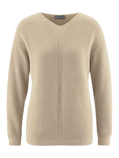 HempAge V-Neck Pullover gobi