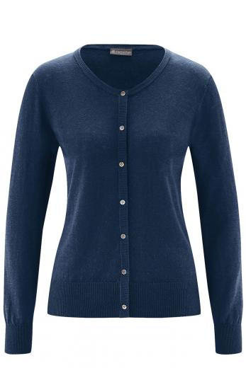 HempAge Knit Cardigan navy