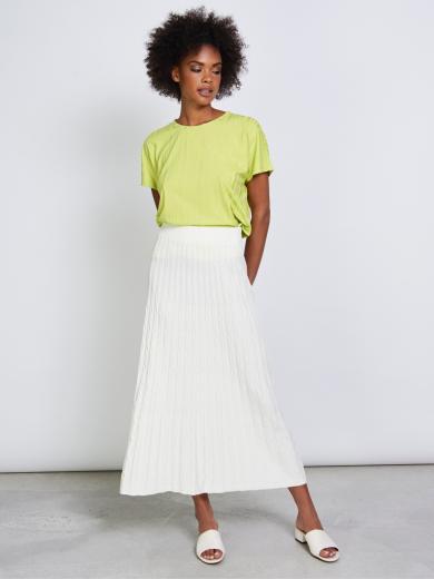 JAN 'N JUNE Knit Skirt Herta Off White