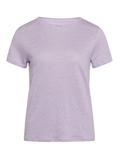 Knowledge Cotton Apparel Holly reg linen tee Pastel Lilac