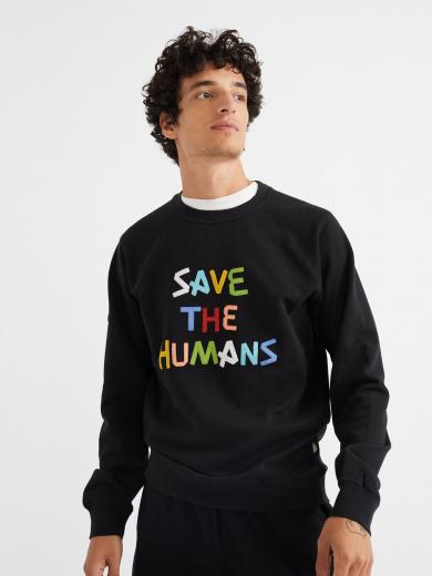 Thinking MU Save The Humans Sweathsirt Black