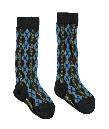 IMPS&ELFS Knee Socks 23/26 | black candy