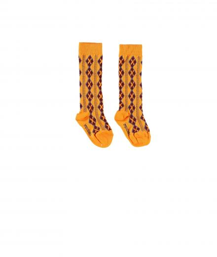 Imps & Elfs Knee Socks 23/26 | carrot orange
