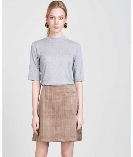 JAN 'N JUNE T-Shirt Nina Rib light grey