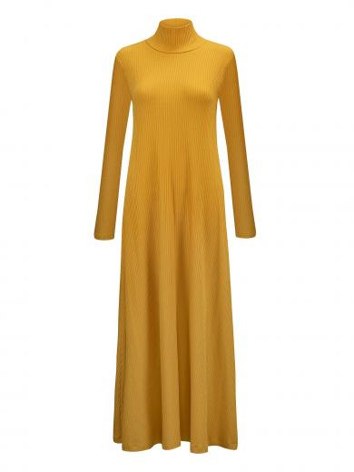 JAN 'N JUNE Turtleneck Kleid Rory mustard