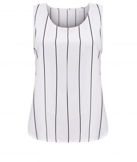 JAN 'N JUNE Top ROSA Taft Striped white black striped | M
