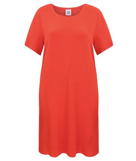 JAN 'N JUNE Shirt Dress Iris Piquee red | XS