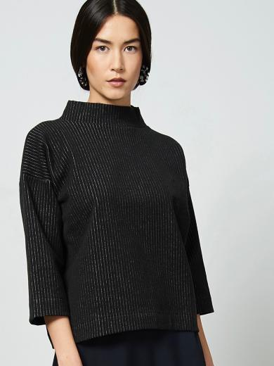 JAN 'N JUNE Sweater Kallisto Pinstriped Black