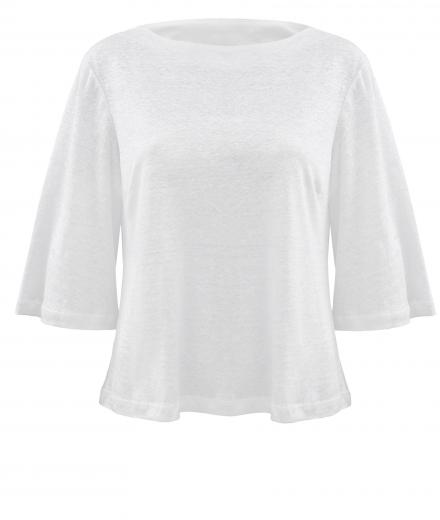 Top TRAPEZE linen white
