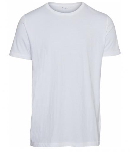 Knowledge Cotton Apparel Basic Regular Fit O-Neck Tee Bright White | L