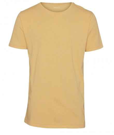 Knowledge Cotton Apparel Basic Regular Fit O-Neck Tee Banana Melange | L