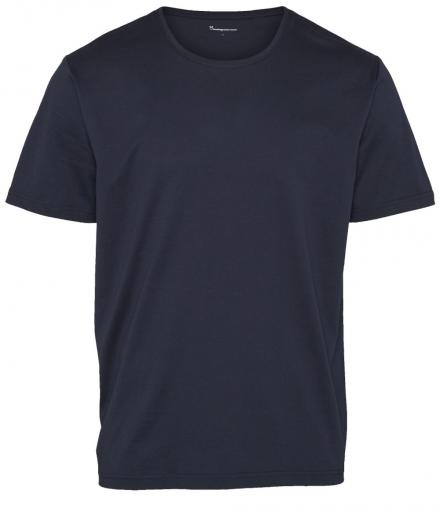 Knowledge Cotton Apparel T-Shirt Normal O-neck Total Eclipse | XL