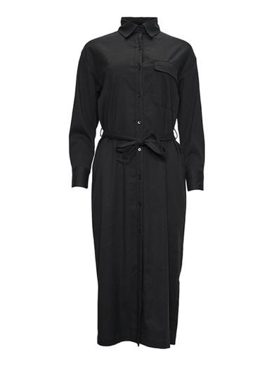 Knowledge Cotton Apparel AZALEA Tencel Patch Pocket Tencel Dress Black