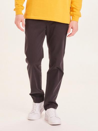 Knowledge Cotton Apparel Chuck regular stretched chino pant black jet