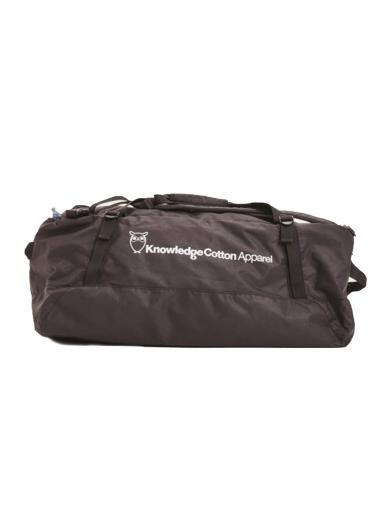 Knowledge Cotton Apparel Packable Duffle Backpack 50L Black
