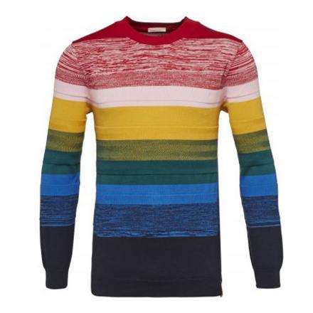 Knowledge Cotton Apparel Crew neck knit multicolour | L