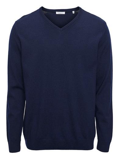 Knowledge Cotton FORREST V-neck merino wool knit