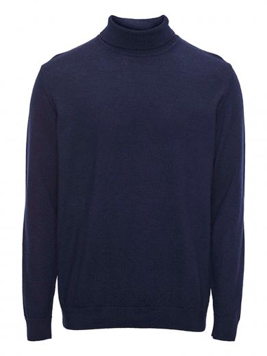 Knowledge Cotton Apparel FORREST roll neck merino wool knit total eclipse