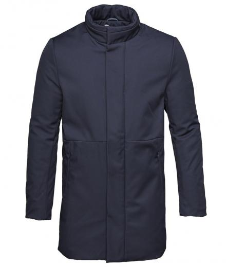Knowledge Cotton Apparel Long Soft Shell Bounded Jacket - GRS