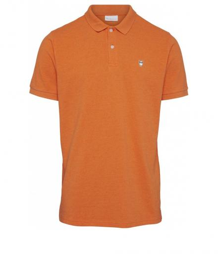 Knowledge Cotton Apparel ROWAN basic polo Orange melange