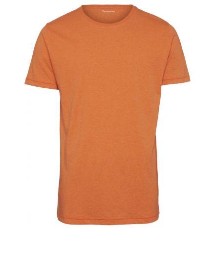 Knowledge Cotton Apparel ALDER basic tee Orange melange