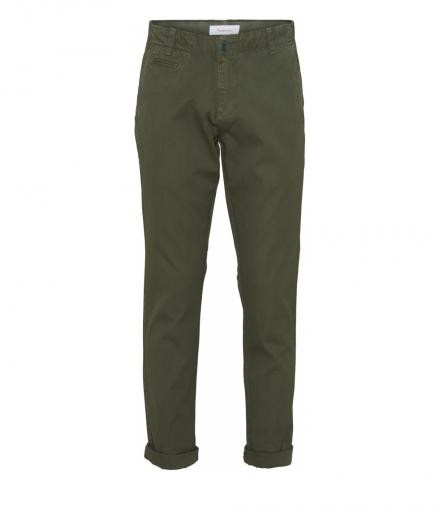 Knowledge Cotton Apparel CHUCK Regular Chino Pant Green Forest