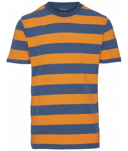Knowledge Cotton Apparel Striped O Neck Tee