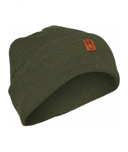 Knowledge Cotton Apparel Beanie organic wool Green Forest