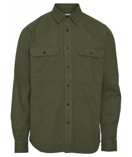 Knowledge Cotton Apparel Long Sleeve Moleskin Shirt green forest - GOTS/Vegan