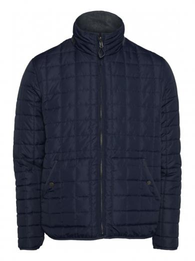 Knowledge Cotton Apparel Fjord reversible quilted jacket Total Eclipse