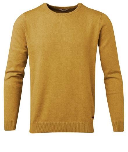 Knowledge Cotton Apparel Basic O-Neck Cotton/Cashmere - GOTS Arronwwood | M
