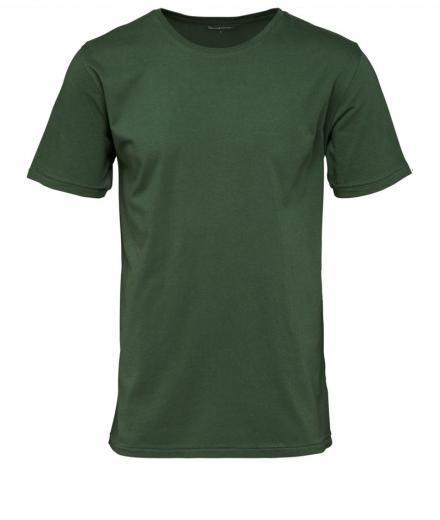 Knowledge Cotton Apparel Basic Regular Fit O-Neck Tee Greener Pastures | L