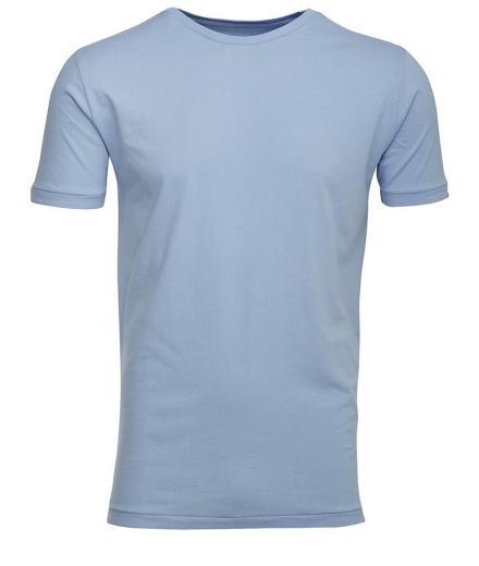 Knowledge Cotton Apparel Basic Regular Fit O-Neck Tee Placid Blue   L