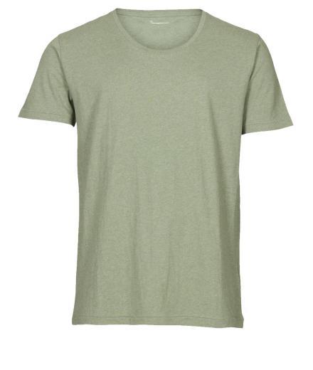 Knowledge Cotton Apparel Basic Regular Fit O-Neck Tee Gren melange | XL