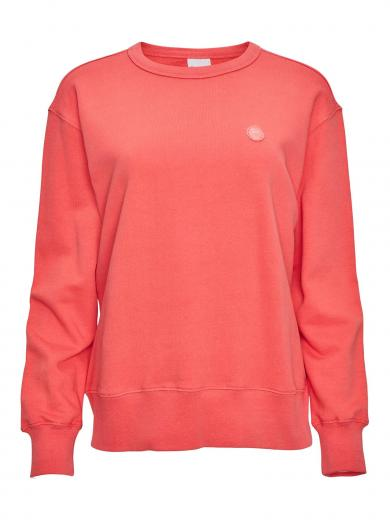 Knowledge Cotton Apparel Daphne basic badge sweat Spiced Coral