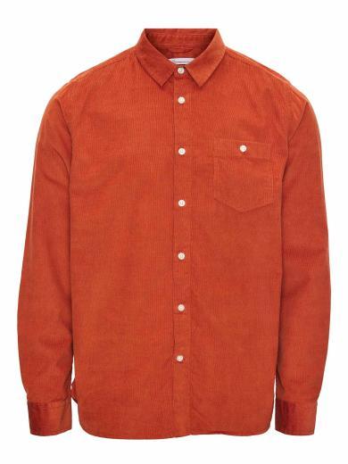 Knowledge Cotton Apparel Elder Regular Fit Baby Cord Shirt Arabian Spice