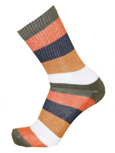 Knowledge Cotton Apparel LINDEN block striped 2 pack sock forrest night