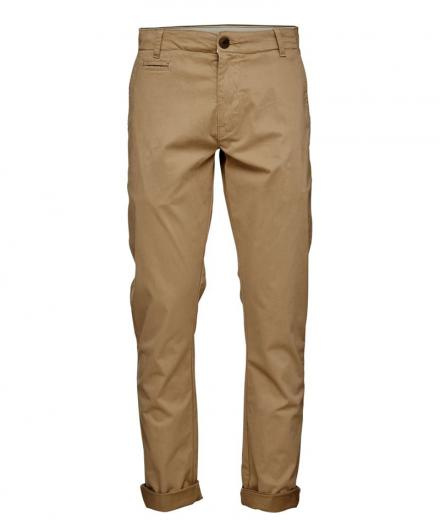 Knowledge Cotton Apparel Garment Dyed Sateen Chino