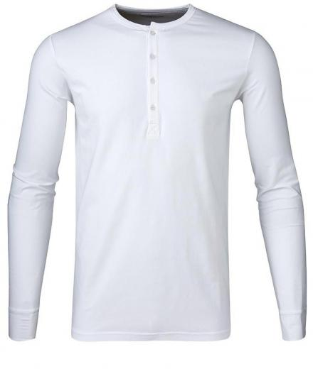 Knowledge Cotton Apparel Henley - GOTS L | Bright White