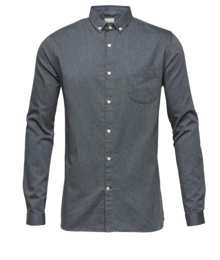 Knowledge Cotton Apparel Indigo Look Zig Zag Shirt-GOTS